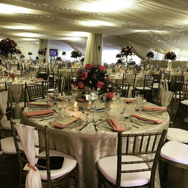 Wedding decor, draping, fairylights
