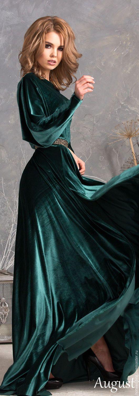 Купить Платье из Королевского бархата, летучая мышь, макси длина с разрезом. - бархатное платье  Платье из Королевского бархата, платье в макси длине, с разрезом, Платье вечернее. Ручная работа. Handmade . Fashion . Wedding . Dress . Dresses . #handmade