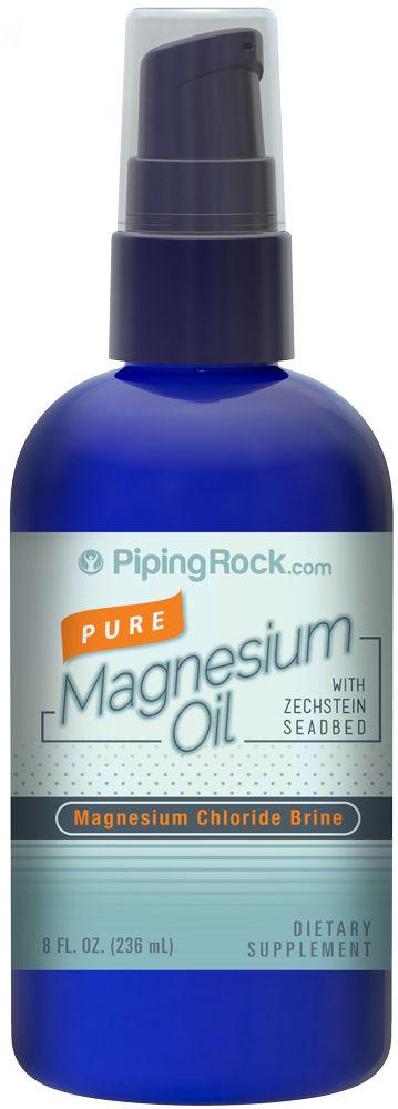 Buy Discounted Pure Magnesium Oil 8 Liquid Vitamins & Supplements online at PipingRock.com
