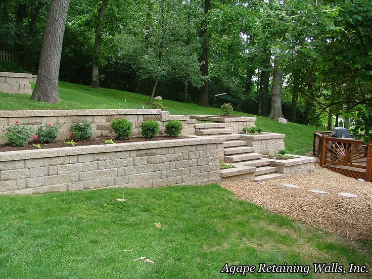 17 best images about retaining walls on pinterest for Landscape blocks