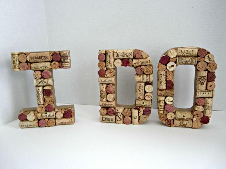 I Do in Wine Cork Letters. $70.00, via Etsy. #wedding #vineyard #wine