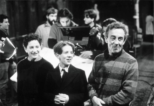 Louis Malle sur le tournage de AU REVOIR LES ENFANTS (1987)
