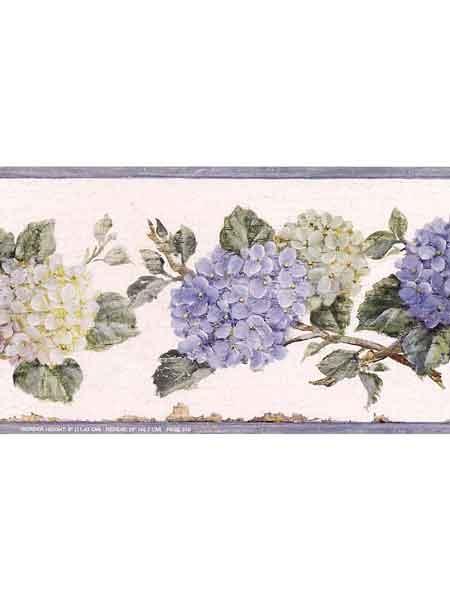 Hydrangea Wallpaper Border