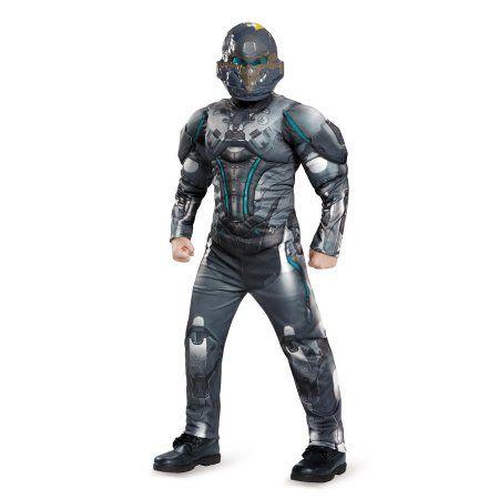 Halo Spartan Locke Classic Muscle Child Costume XL, Boy's, Multicolor