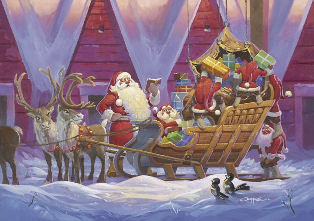 Nobody know exactly how Santa, with all his gifts, manages to be on time and make all his destinations.