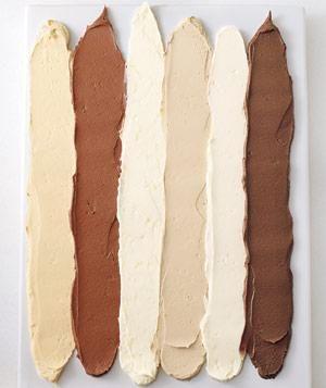 Frosting recipes: Caramel, Chocolate Sour Cream, Lemon, Coffee, Vanilla, and Chocolate Ganache.