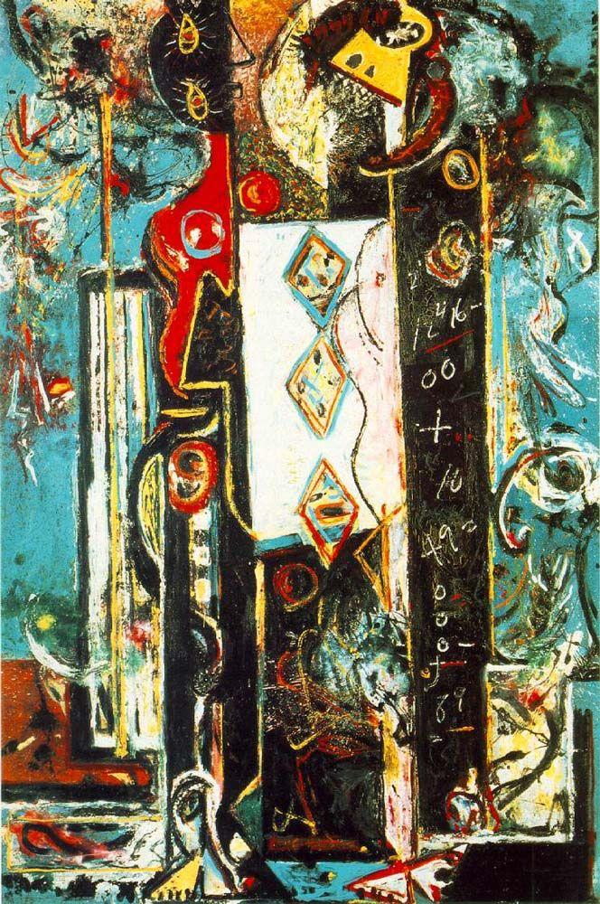 Jackson Pollock: Male and Female, 1942.