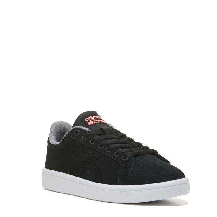 Adidas Women's Neo Cloudfoam Advantage Clean Sneakers (Black/Sun Glow) - 10.0 M
