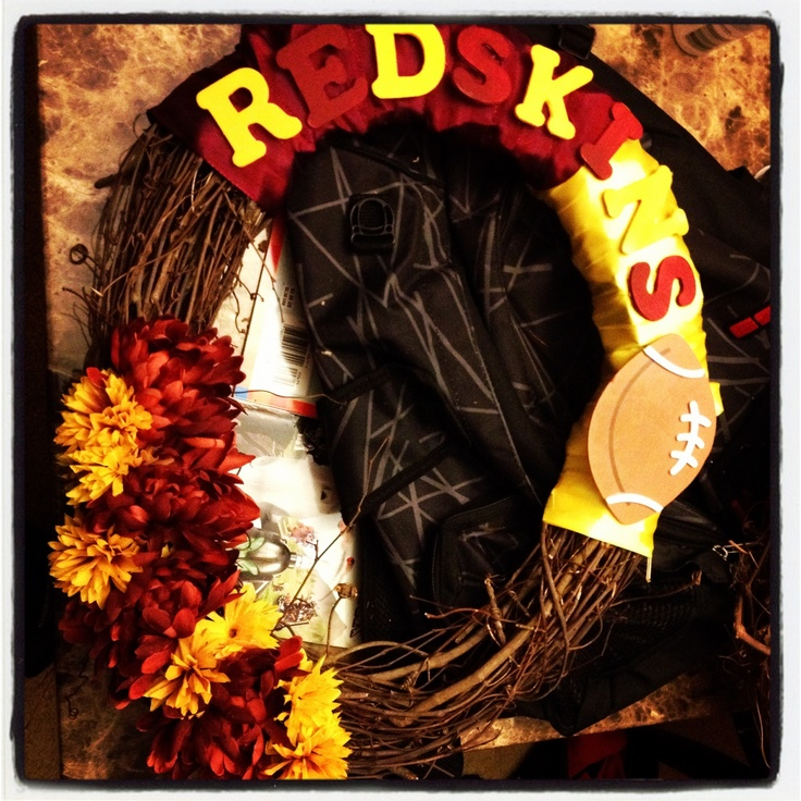 DYI #Redskins Wreath