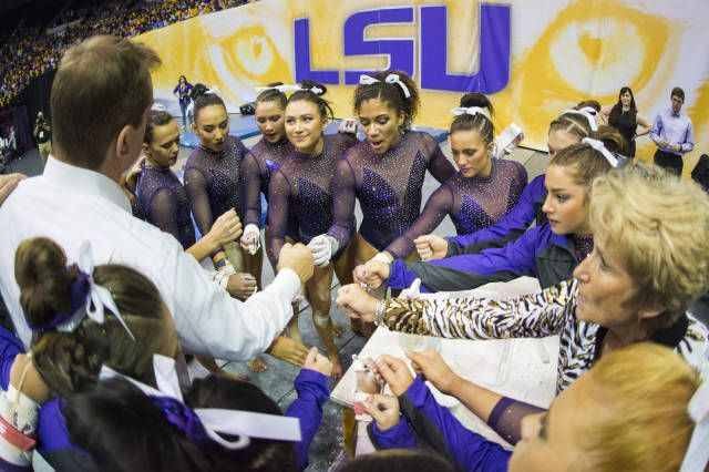 BATON ROUGE – For the seventh time in program history the LSU gymnastics team has earned the top spot in the national rankings after posting a 196.950 score in a win over Oklahoma, RoadToNationals.com released Monday.