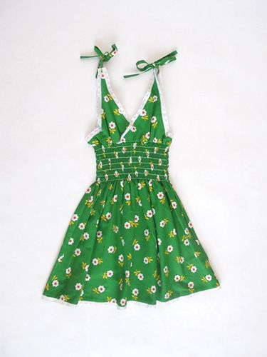 Flower dressGirls, Small Shops, Vintage Green, Kids Clothing, Critter Clothing, Products, Vintage Clothing