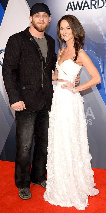 Brantley Gilbert & wife Amber - CMA Awards 2015: The Arrivals : People.com