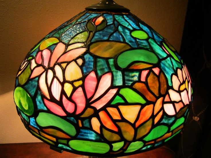 Tiffany waterlily stained glass lamp 2350 00 via etsy