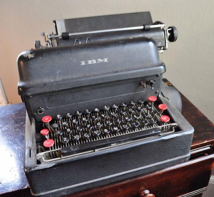 IBM Antique 1930s First Electric Typewriter Rare Collectors Item #ibm