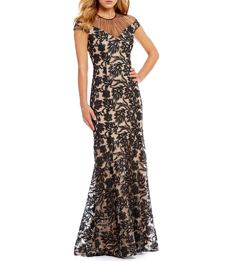Kay Unger Sequin Lace Gown #Dillards