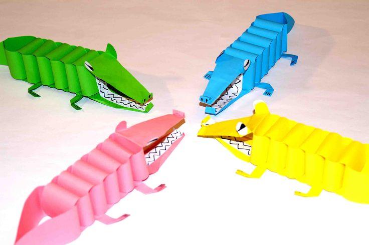 Поделки из бумаги Зубастый Крокодил. Поделки из бумаги мастер класс