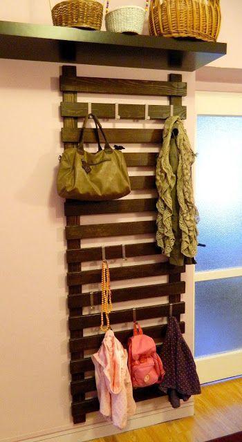 bois, décoration, DIY, entrée, étagères, palette, porte-manteau, rangement chaussures, récup, recyclage