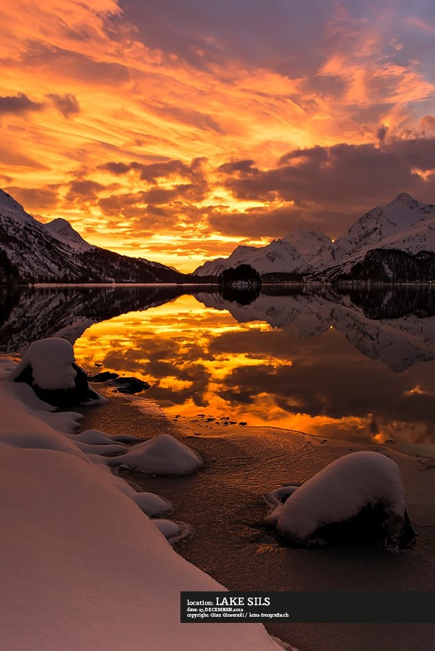 Lake of Sils in Engadin by Gian Giovanoli