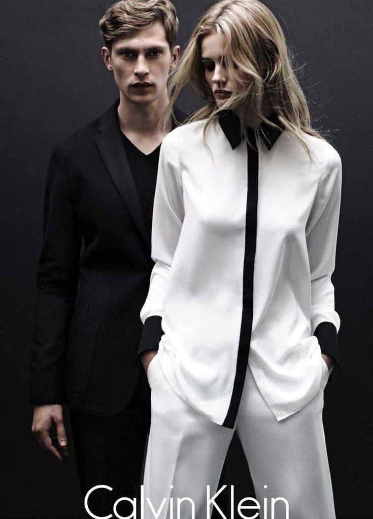 Math­ias Lau­rid­sen and Edita Vilke­vi­ciute front Calvin Klein White Label's Fall/Winter 2012 cam­paign, shot by Daniel Jack­son and styled by George Cortina.