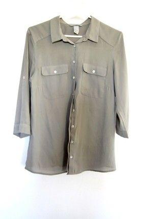 Kup mój przedmiot na #vintedpl http://www.vinted.pl/damska-odziez/koszule/13586242-koszula-z-hm-khaki-mgielka-na-lato