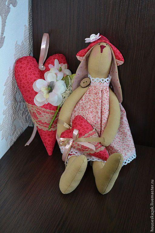 Купить Зайка тильда (Моня) - розовый, тильда, тильда кукла, тильда заяц