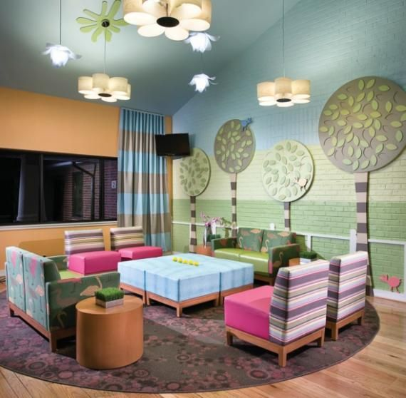 Model PediatricOfficeFurniturecom Sells Colorful Waiting Room Chairs In