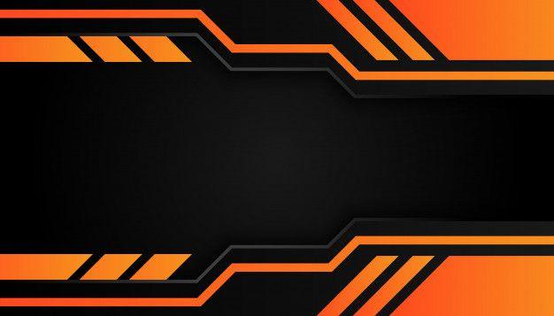 Modern 3d Geometry Shapes Black Lines With Orange Borders On Dark Background Poster Background Design Photo Logo Design Youtube Banner Design