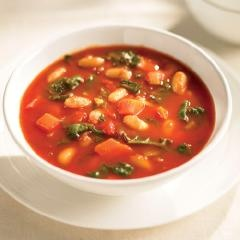 Swiss Chard And Bean Soup:  This hearty main-course soup is packed with lots of good-for-you vegetables and beans. Serve with crusty bread.