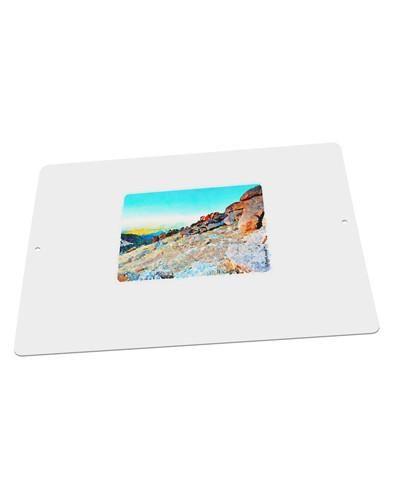 """CO Rockies View Watercolor Large Aluminum Sign 12 x 18"""" - Landscape"""