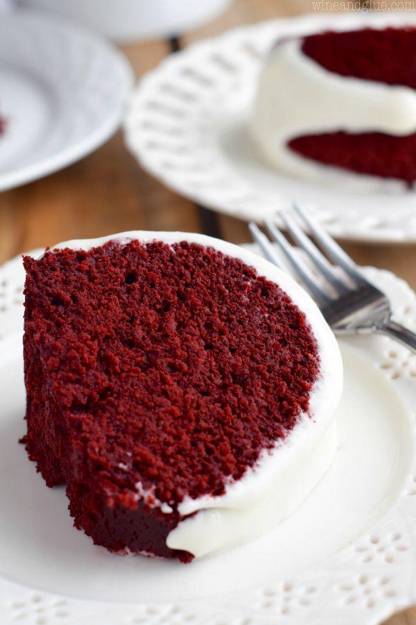 Red Velvet Choc Chip Bundt Cake