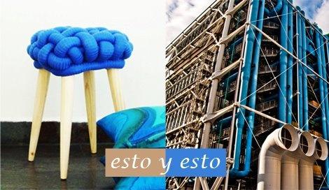 Taburete azul / EbanoDeco . Centre Georges Pompidou / París