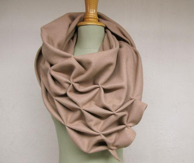 geometric wool shawl - superwarm camel