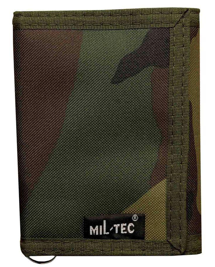 Monedero de Camuflaje Mil Tec #camuflaje #cartera #woodland #camo #rock #xtremonline