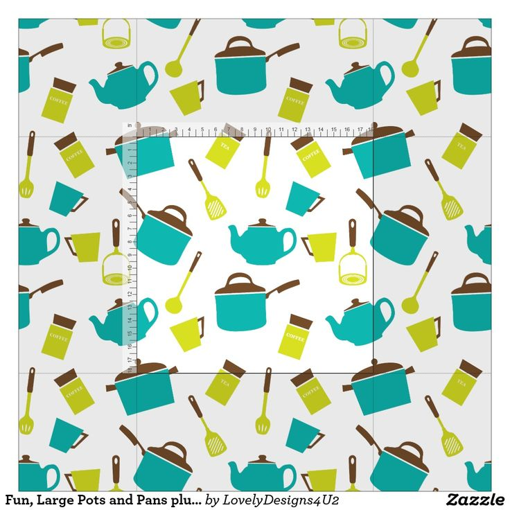 Fun, Large Pots and Pans plus Kitchen Accessories Fabric
