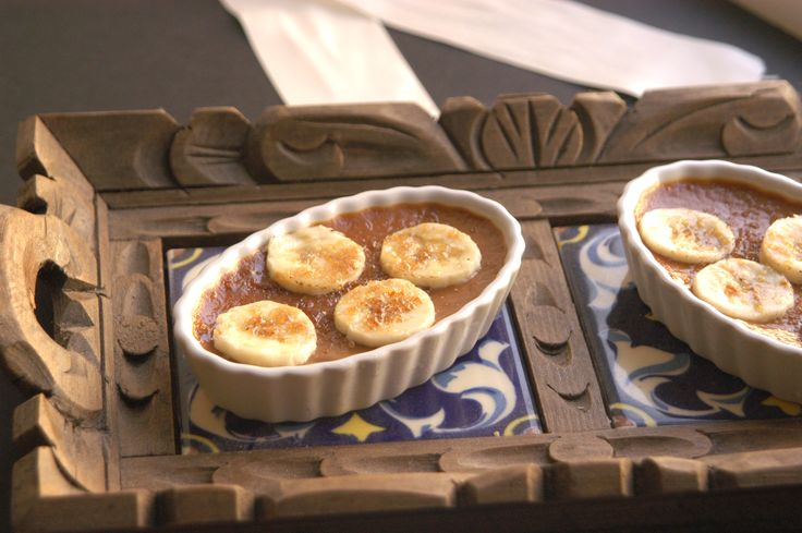 BANOFFEE & PEANUT BUTTER CREME BRULEE ==  ½ cup sugar, and extra for bruleeing …