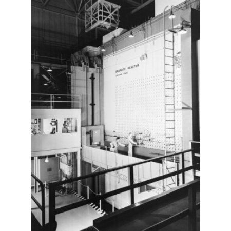 High angle view of scientists working in a nuclear laboratory Graphite Reactor Oak Ridge National Laboratory Oak Ridge Tennessee USA Canvas Art - (24 x 36)