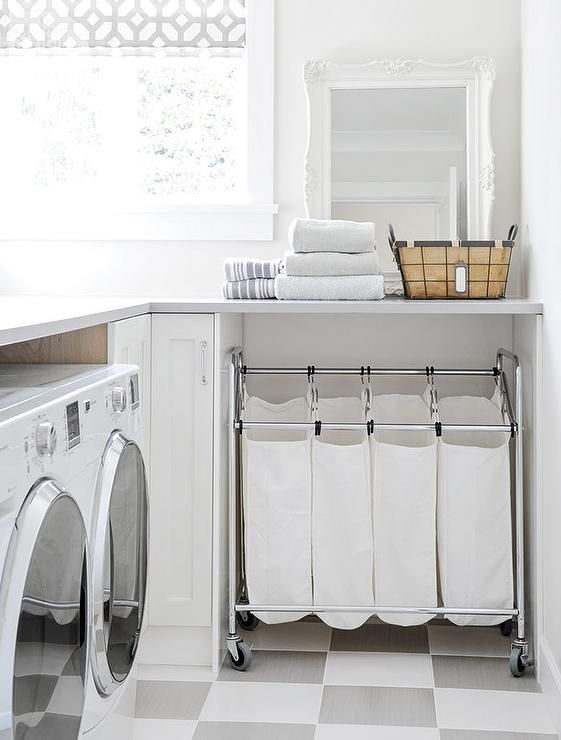 White laundry room inspiration