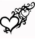 family heart tattoos -  but 2 hearts entertwined and 3 more in the swirls.