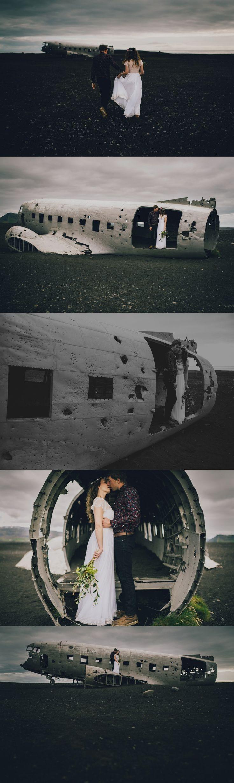 Iceland Elopement - Wear Your Love - Charis Rowland Photography - plane crash - black sand beach - Vik