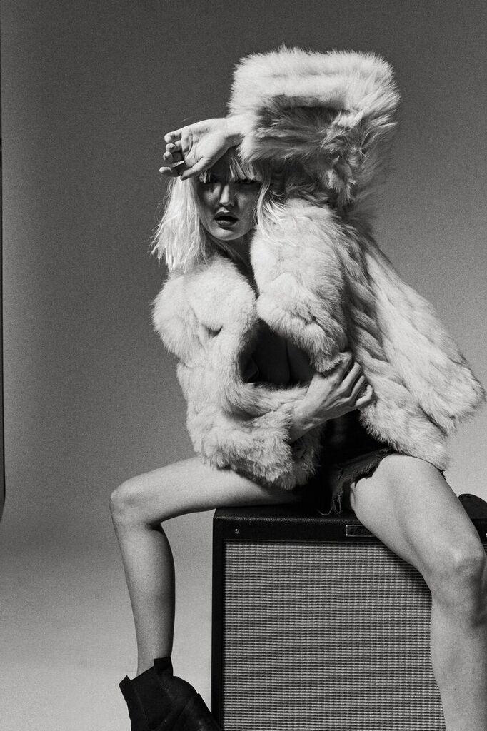 Photographer: Richard Douglas Gledhill Models: Alexandra Smith, Keith Horn Hair: Zach Glielmi MUA: Lillian Fogel #amp #blackandwhite #fur #jacket #blonde