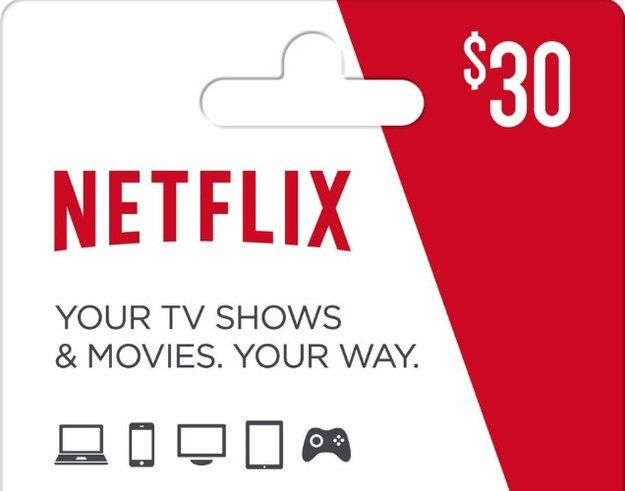 You can give a Netflix gift card as a physical card or by email.