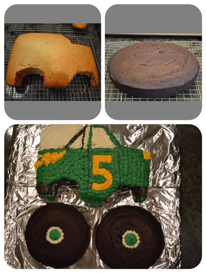 Monster Truck birthday party theme ideas. @ kate bernier, could also turn it into a tractor for Jack!