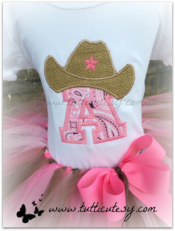 Pink Cowgirl Tutu Outfit by tutticutesytutus on Etsy