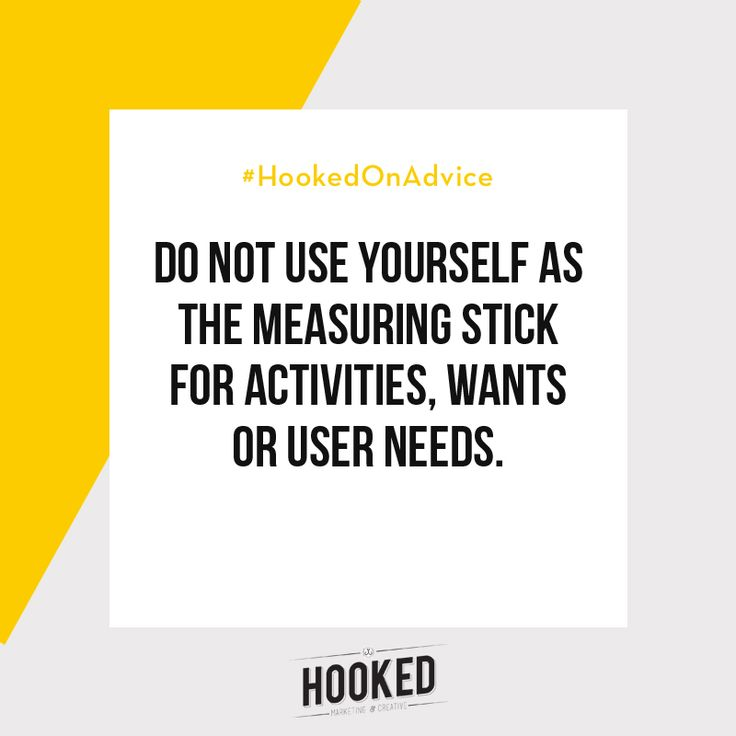 Depending on what you're selling, your ideal customers might be completely different to you! You need to make sure you are targeting any strategies towards what they want, not towards what you THINK they want. It's important to do your research and ask your audience questions to find out what they really want. #HookedOnAdvice
