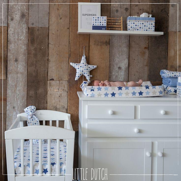Little Dutch Mixed stars blue #littledutch #nursery #kinderkamer #baby #blue #blauw #stars #sterren #little #dutch