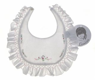smocked and embroidered bib...repinned by ItsSewSusan.Esty.Com