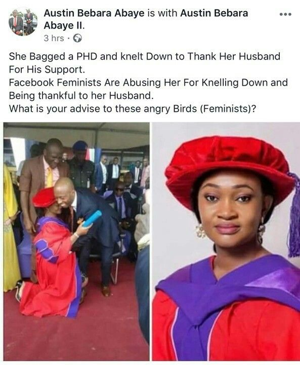 Woman Kneels Down To Thank Her Husband After Graduating With PhD, See Reactions - Family - Nigeria http://www.nairaland.com/4410933/woman-kneels-down-thank-husband