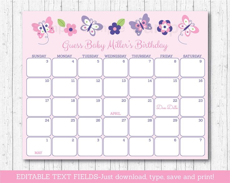 Infant Calendar Ideas : Ideas about due date calendar on pinterest