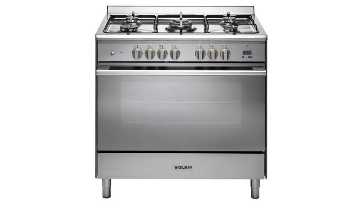Glem 90cm Freestanding Dual Fuel Cooker - Stainless Steel