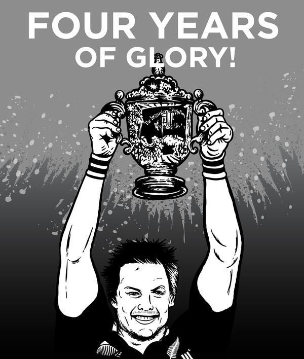 All Blacks Rugby World Cup 2011 by Paintedbrain , via Behance